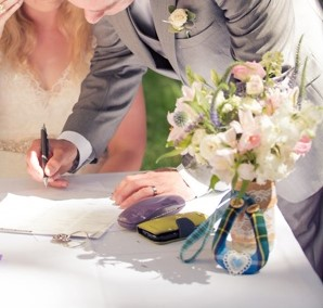 Signing the Register - making it all official